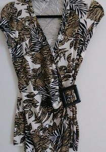 Tops - ANIMAL PRINT DRESSY SHIRT